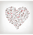 Heart shape floral ornament for your design vector