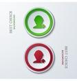 Modern circle icons vector