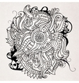 Abstract doodles decorative landscape vector