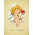 Angel cupid for valentines vector