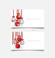 Holiday gift coupons with christmas balls vector