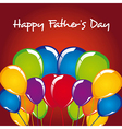 Fathers day balloons vector