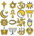 Religious symbols vector