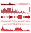 Sound waves set vector