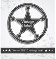 Black label with retro vintage style design vector