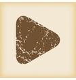 Grungy play icon vector