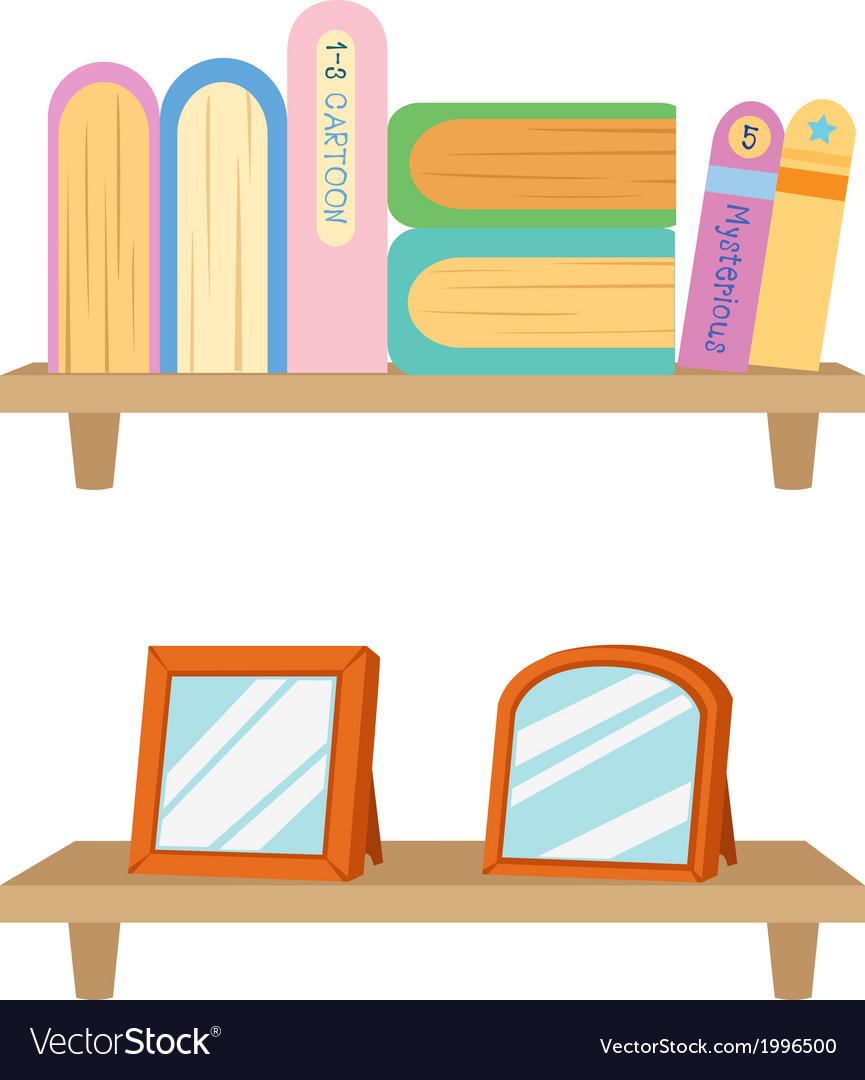 Bookshelf with books vector | Price: 1 Credit (USD $1)