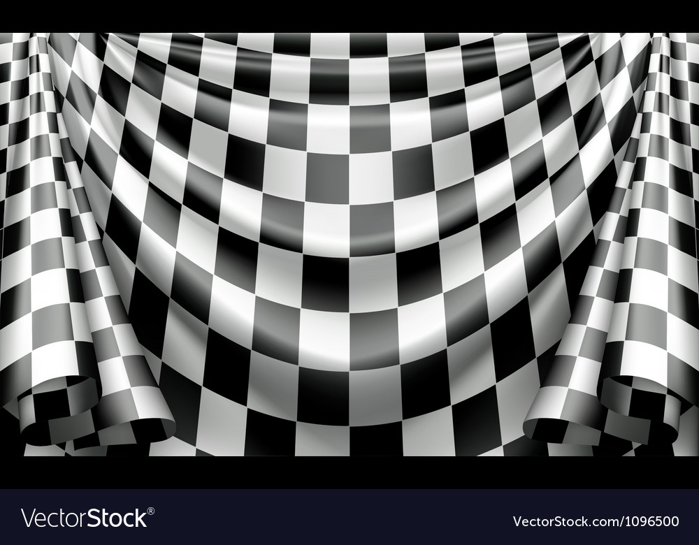 Checkered curtain vector | Price: 1 Credit (USD $1)
