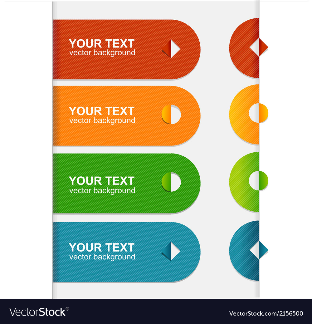 Colorful text box 1 2 3 vector | Price: 1 Credit (USD $1)