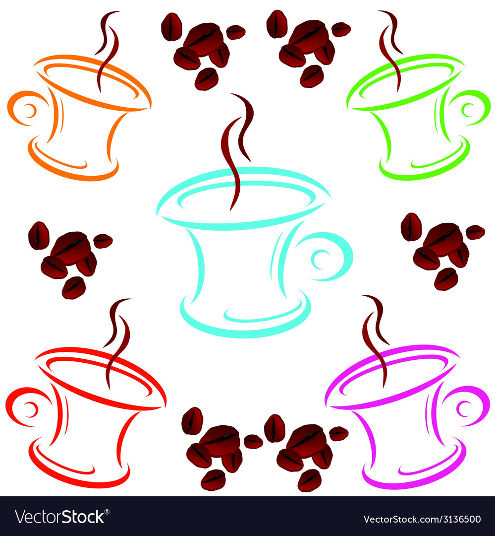Cup of coffee cartoon art vector | Price: 1 Credit (USD $1)