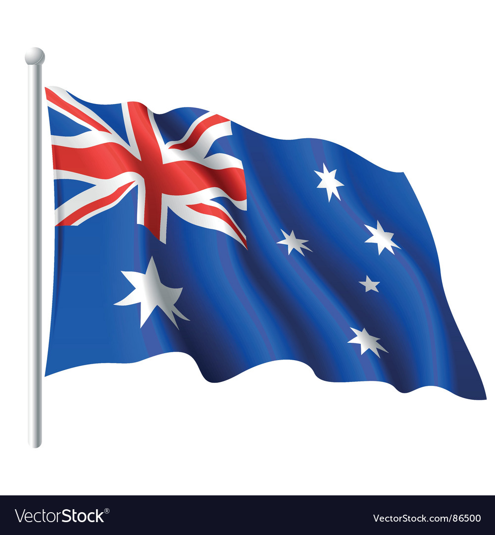 Flag of australia vector | Price: 1 Credit (USD $1)
