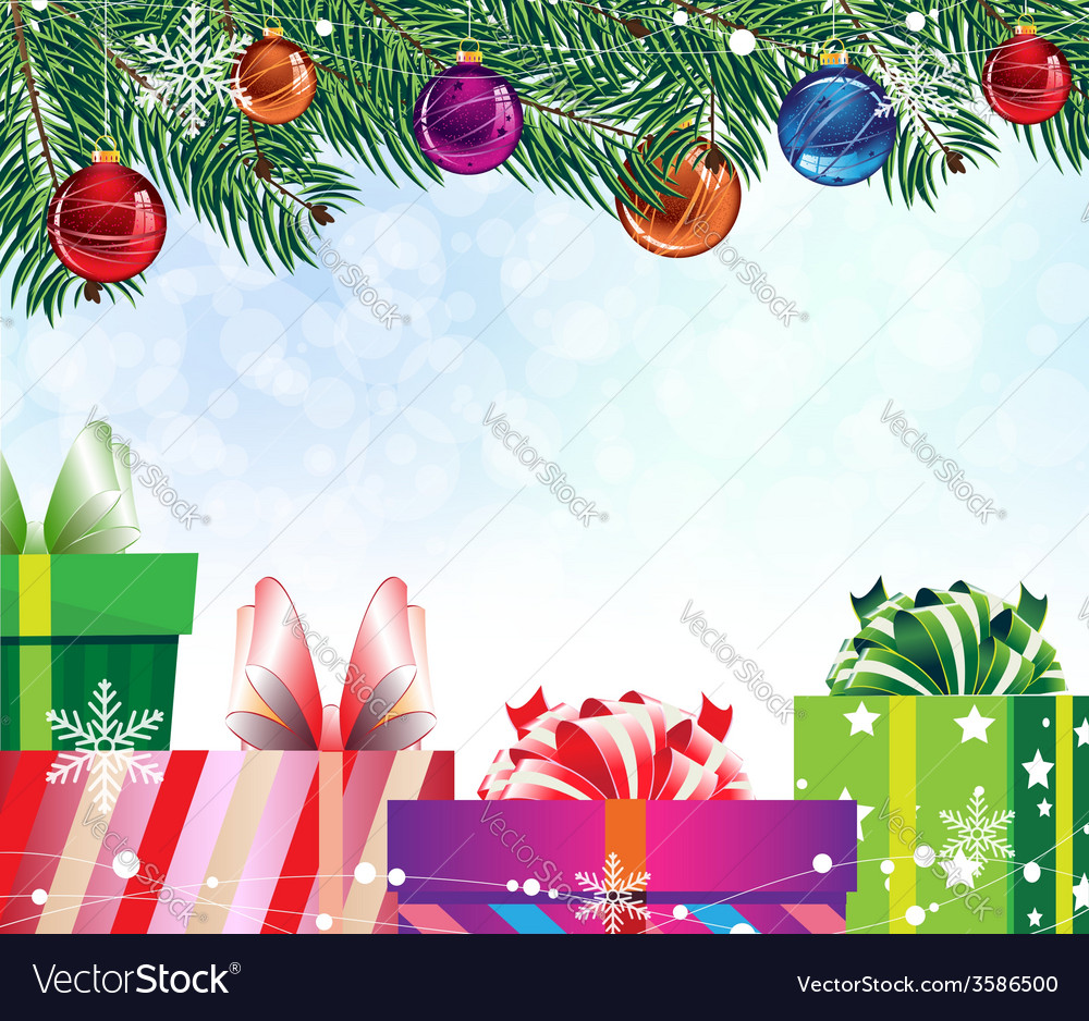 Four colorful gift boxes vector | Price: 1 Credit (USD $1)