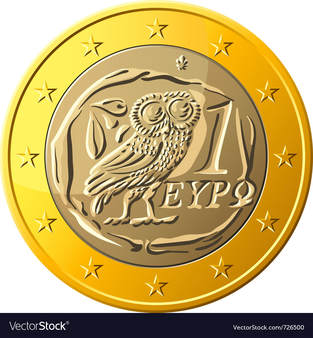 Greek money vector | Price: 1 Credit (USD $1)