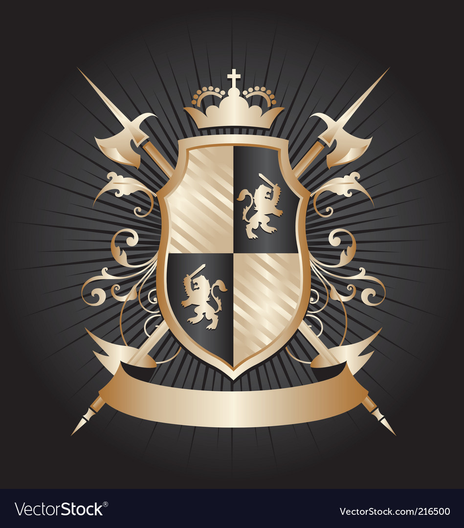 Heraldry shield vector | Price: 1 Credit (USD $1)