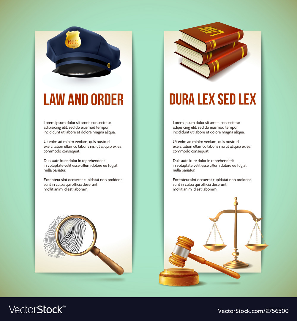 Law vertical banners vector | Price: 1 Credit (USD $1)