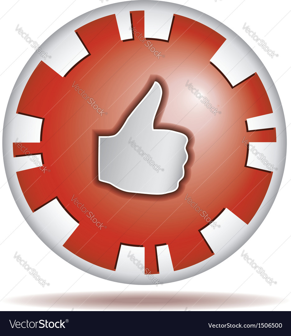 Like round button vector