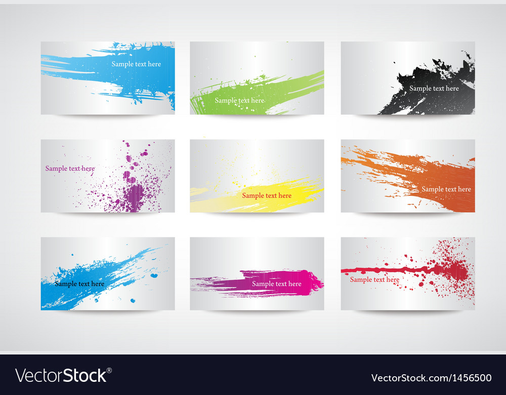 Paint splatter set vector | Price: 1 Credit (USD $1)