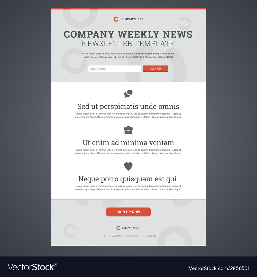 Company news newsletter template vector | Price: 1 Credit (USD $1)