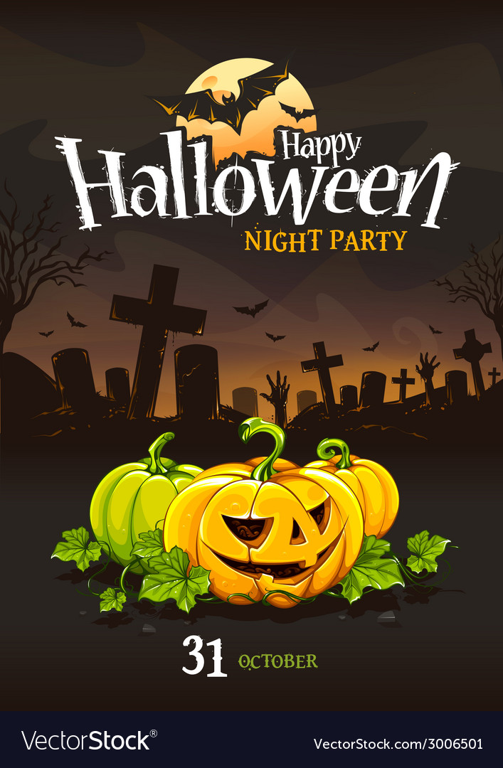 Halloween poster 3 vector | Price: 3 Credit (USD $3)