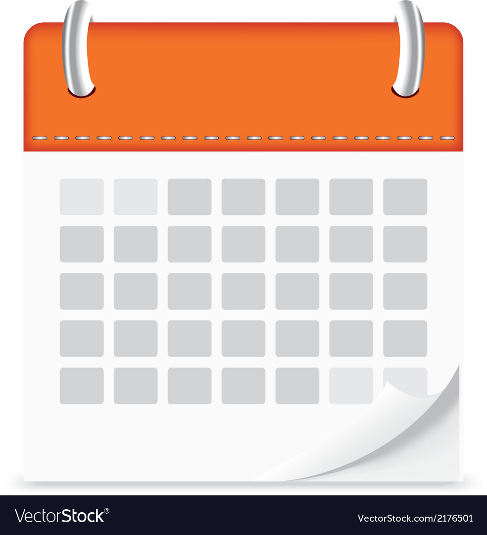 Icon calendar isolated background vector | Price: 1 Credit (USD $1)