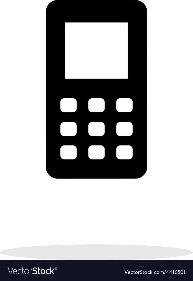 Mobile phone screen simple icon on white vector | Price: 1 Credit (USD $1)