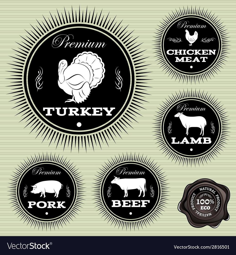 Set of emblems with different pets and birds vector   Price: 1 Credit (USD $1)