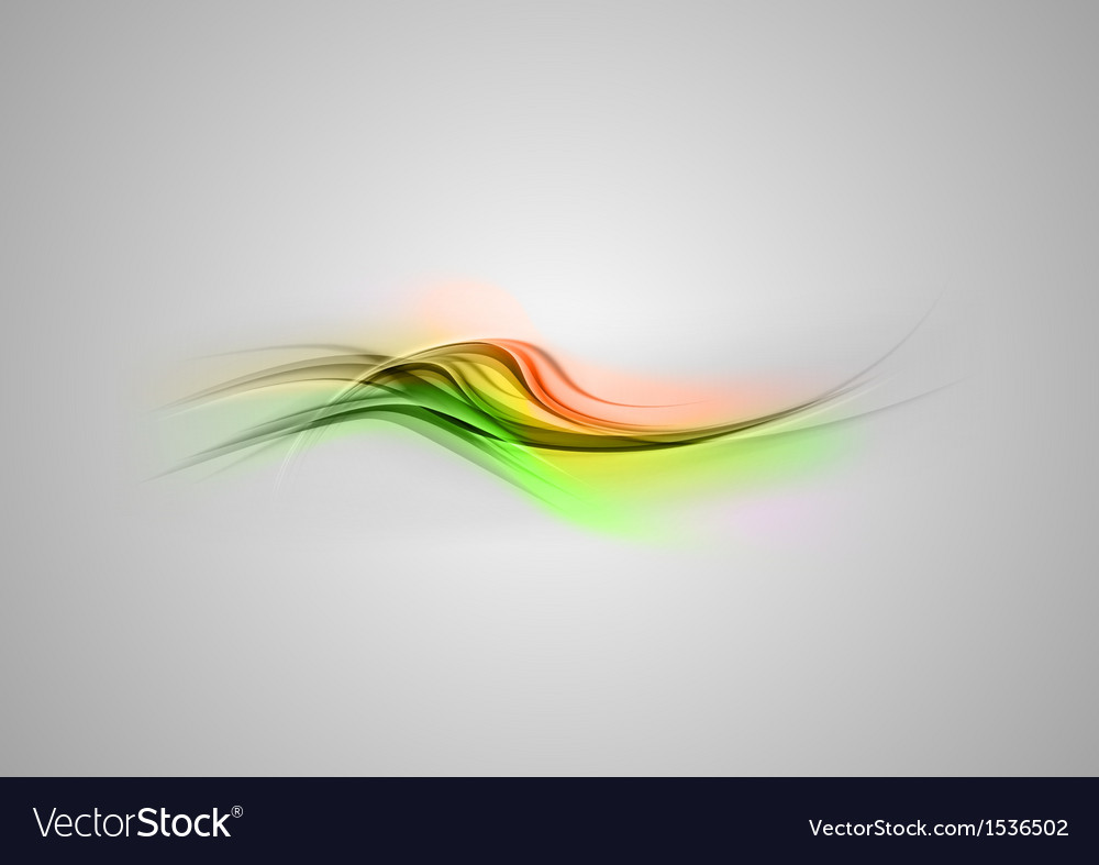 Abstract shape green orange wave grey vector | Price: 1 Credit (USD $1)