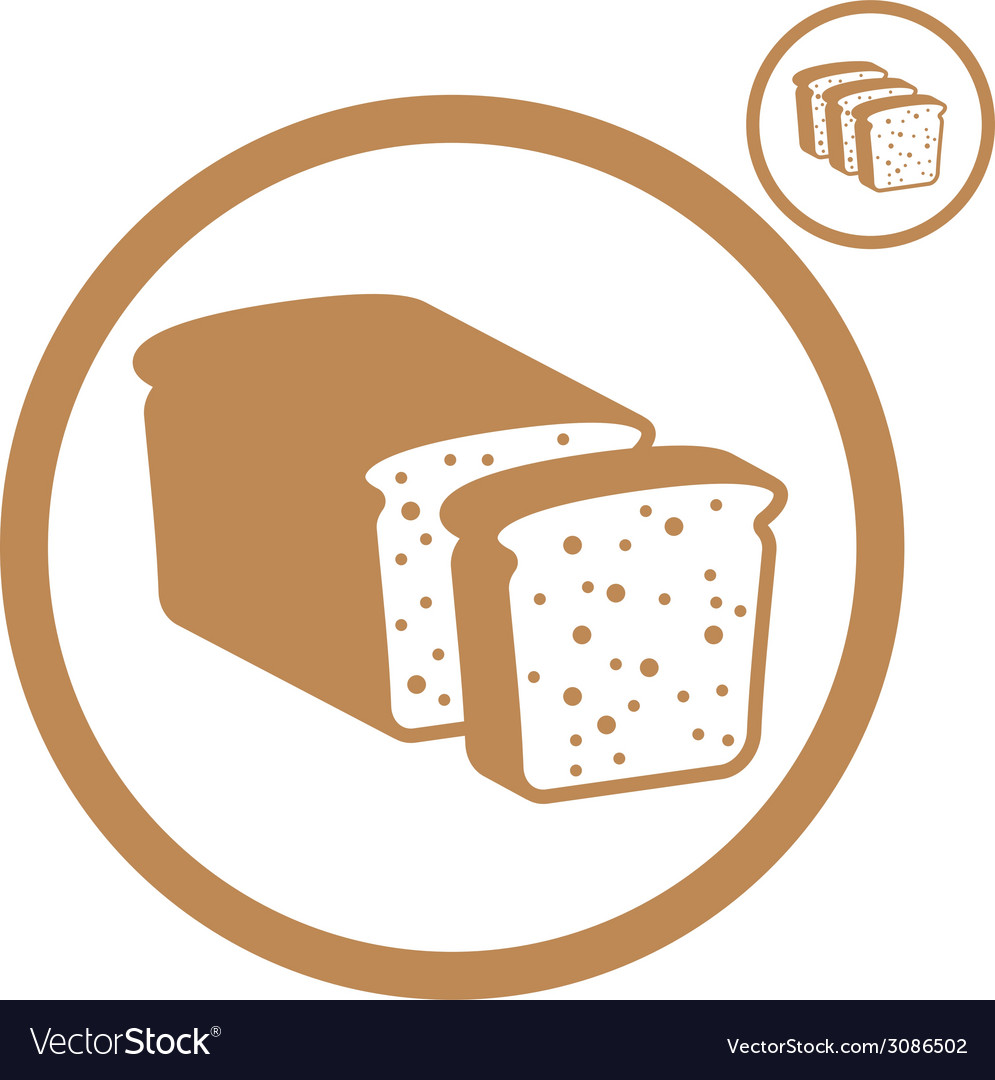 Bread icon vector   Price: 1 Credit (USD $1)