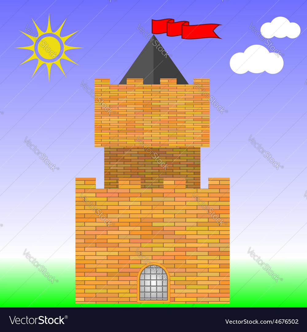 Brick castle vector | Price: 1 Credit (USD $1)