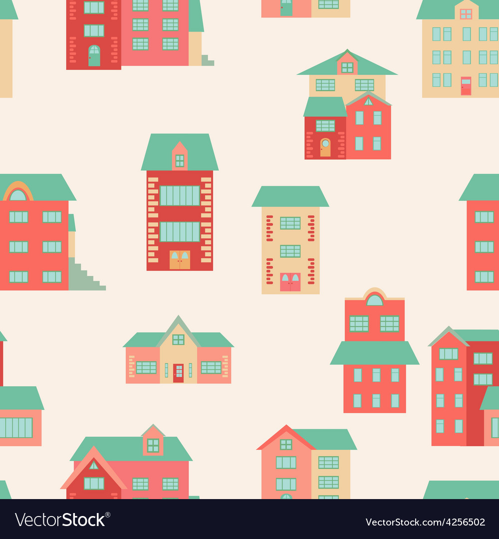 Flat houses vector | Price: 1 Credit (USD $1)