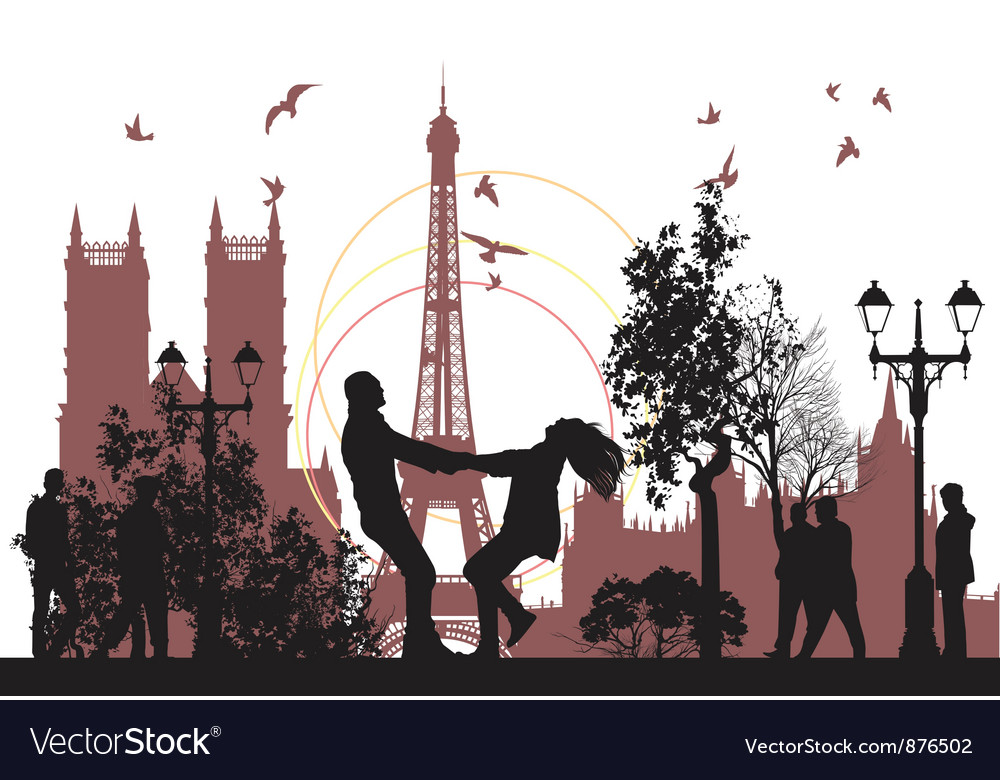 Honeymoon in paris vector | Price: 1 Credit (USD $1)