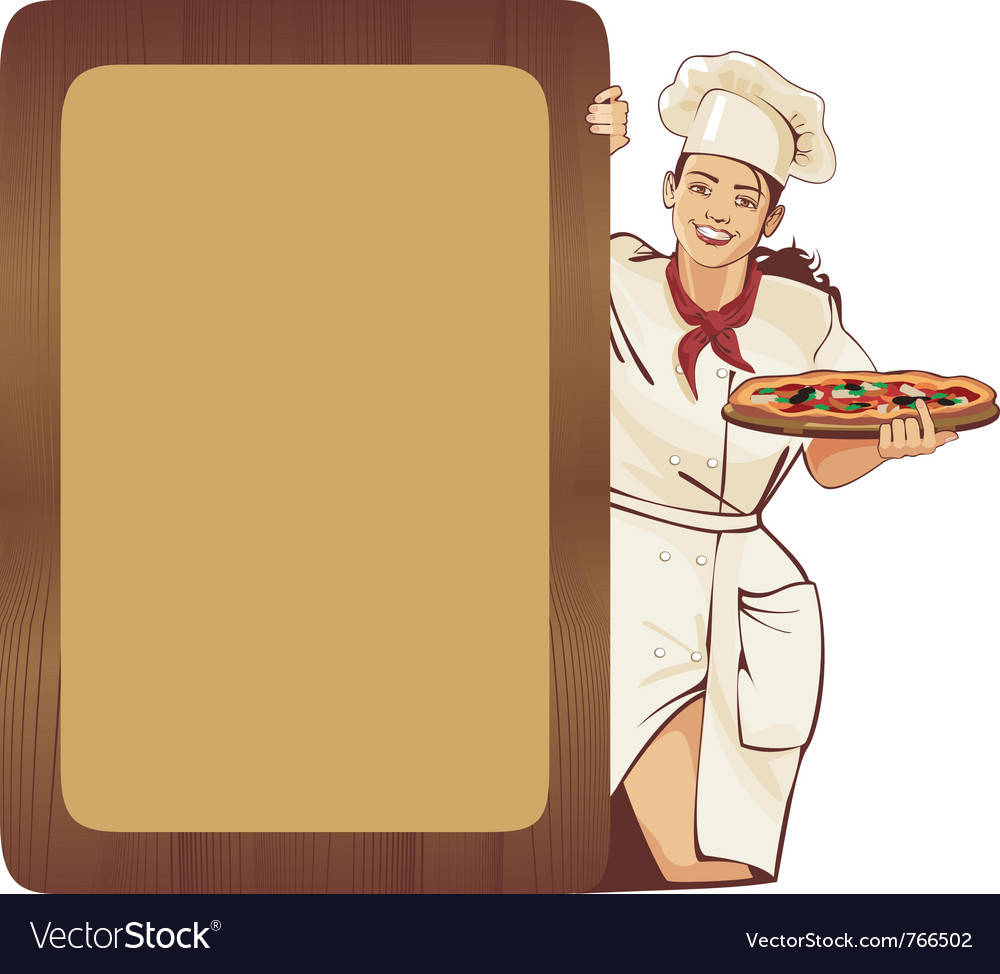 Italian waitress vector | Price: 5 Credit (USD $5)