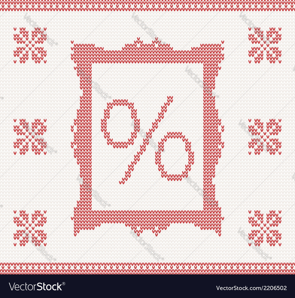 Knitted pattern with percent vector | Price: 1 Credit (USD $1)