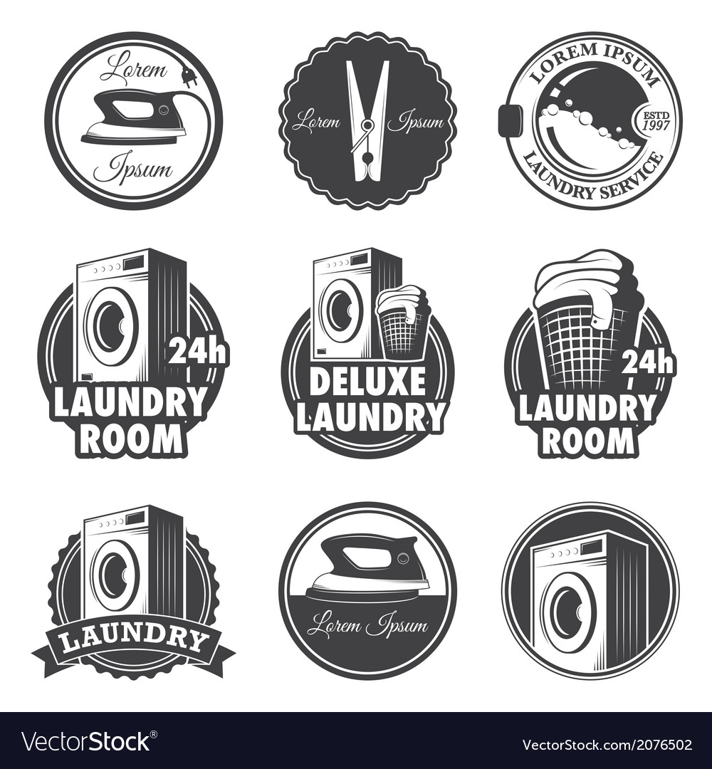 Laundry emblems vector | Price: 1 Credit (USD $1)