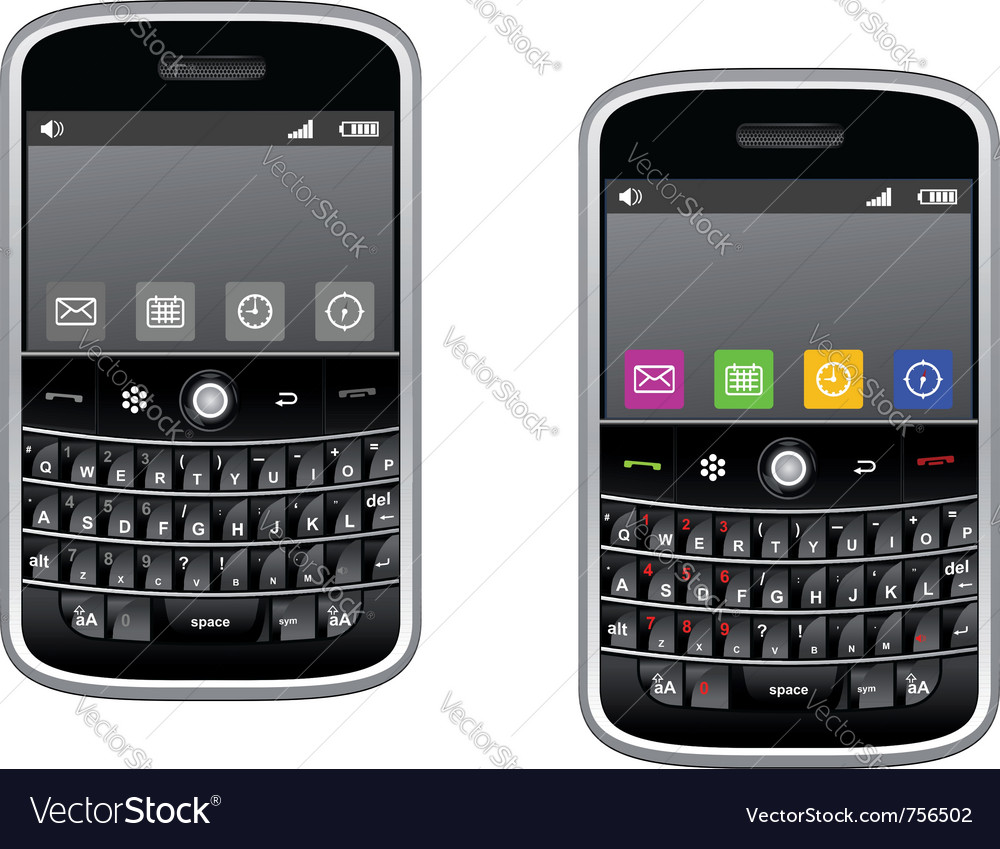 Modern multimedia smartphone vector | Price: 1 Credit (USD $1)