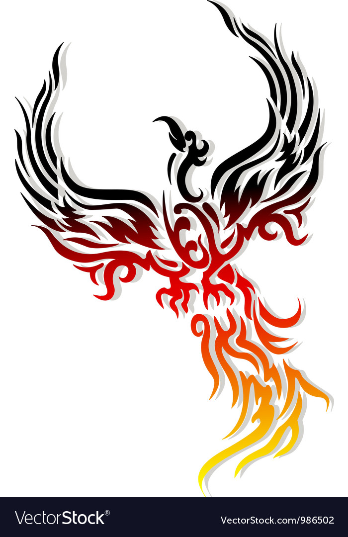 Mythical phoenix bird vector | Price: 1 Credit (USD $1)