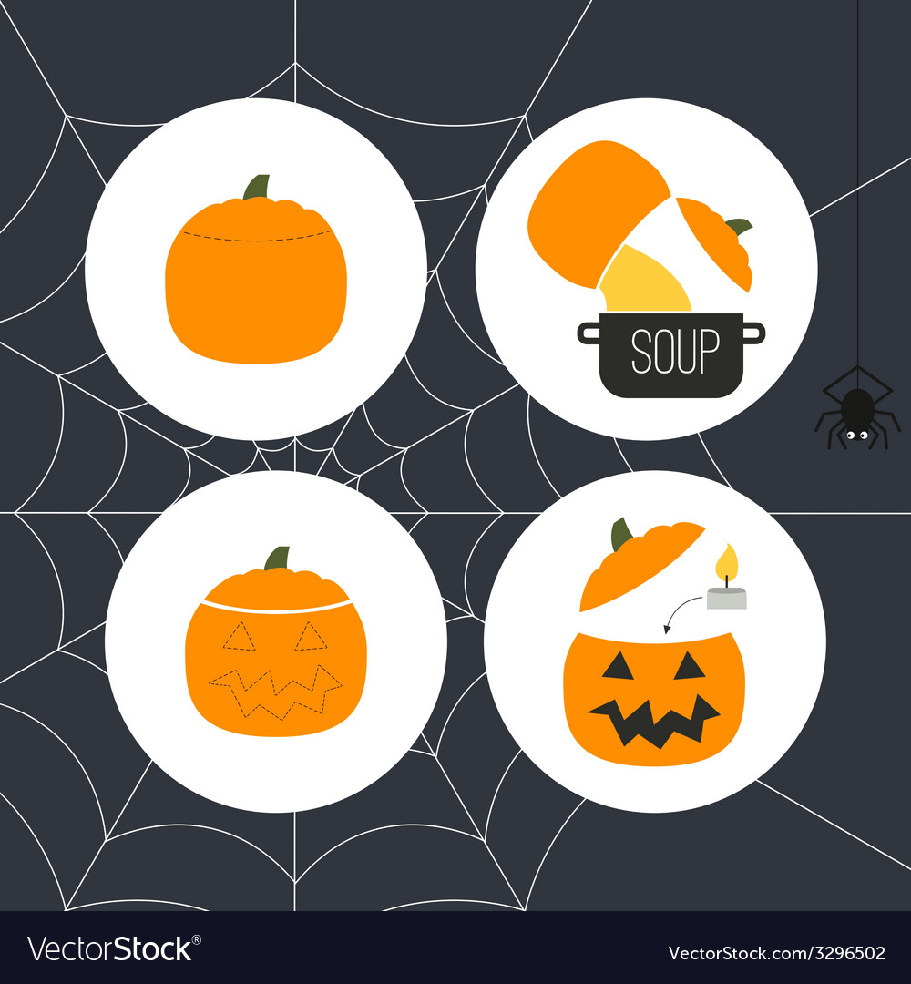 Pumpkin icons vector | Price: 1 Credit (USD $1)