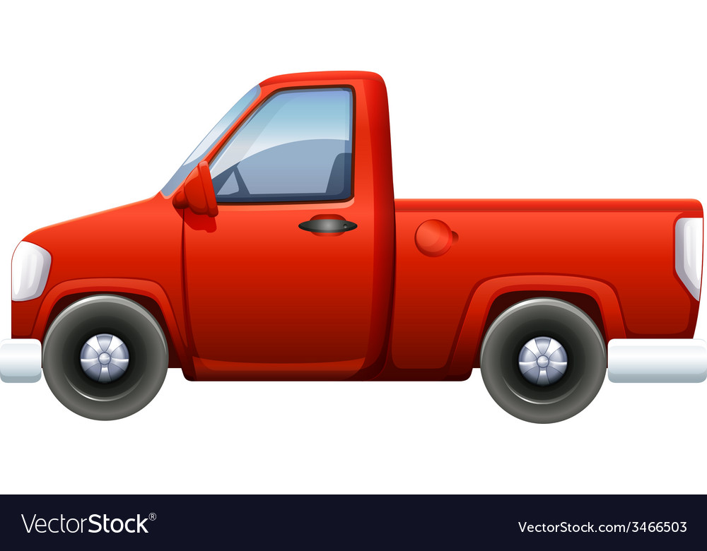 A red pickup vector | Price: 1 Credit (USD $1)