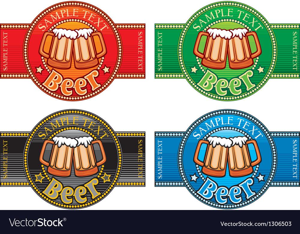 Beer label set vector   Price: 3 Credit (USD $3)
