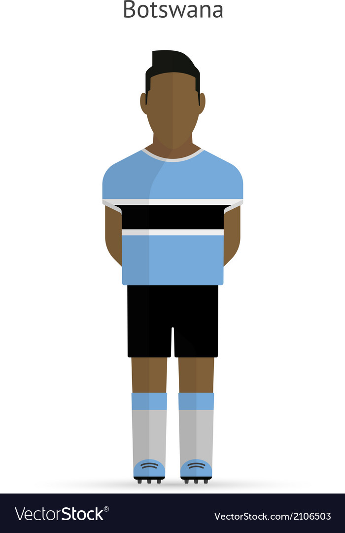 Botswana football player soccer uniform vector   Price: 1 Credit (USD $1)