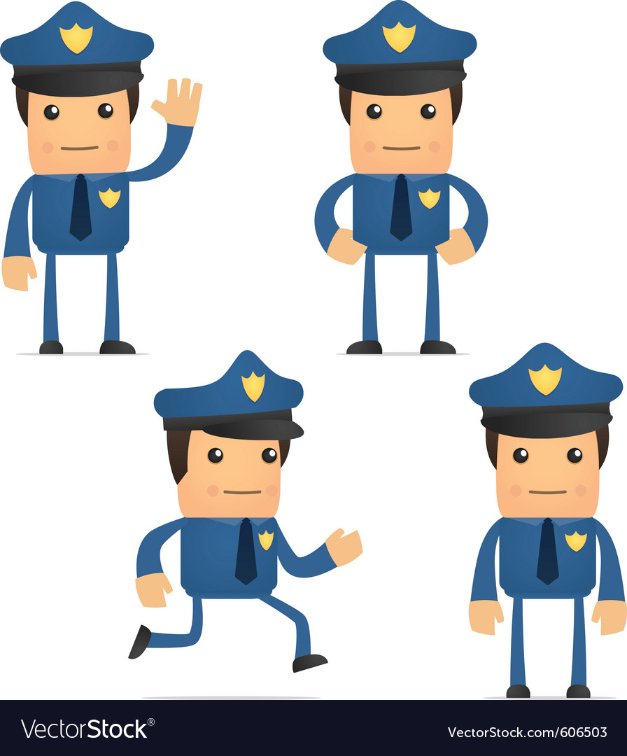 Cartoon policeman vector | Price: 1 Credit (USD $1)