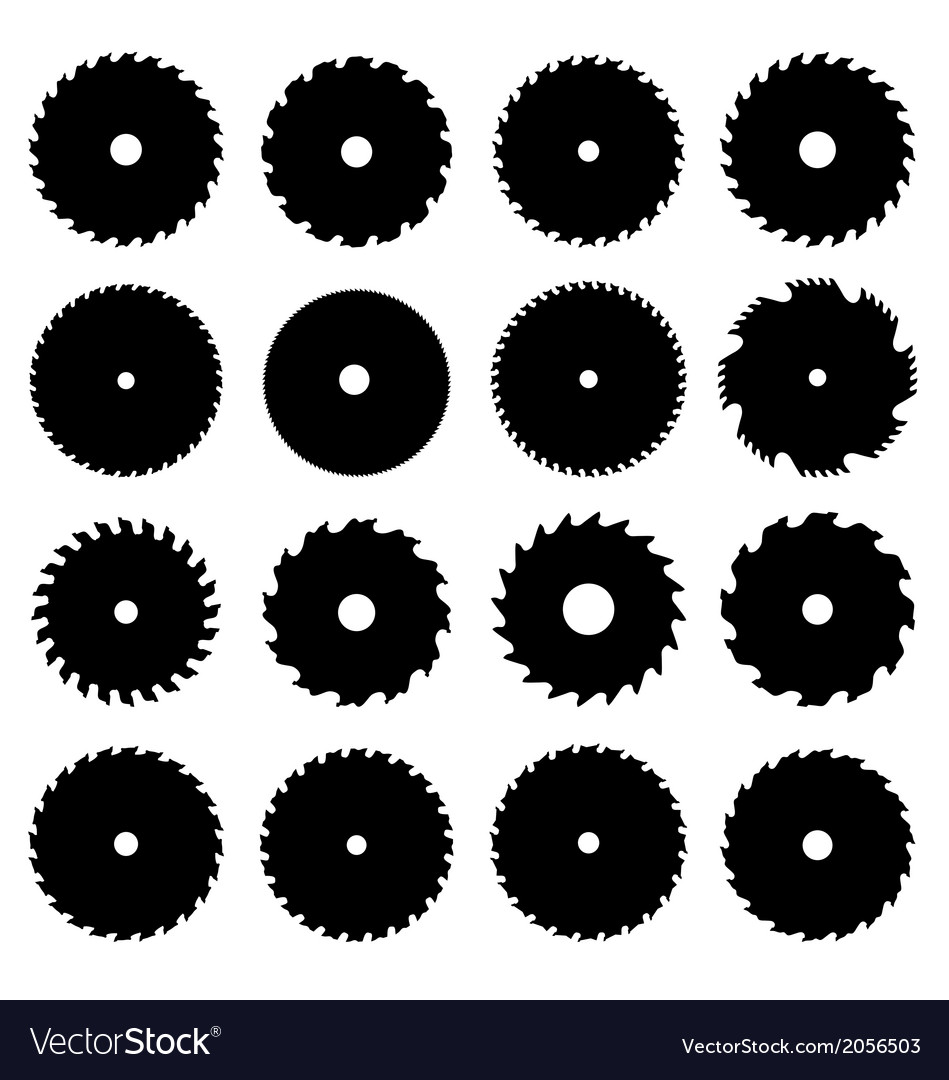 Circular saw blades vector | Price: 1 Credit (USD $1)
