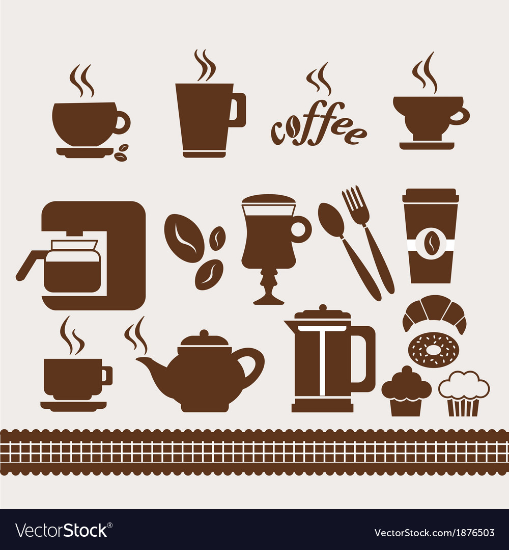 Coffee set vector | Price: 1 Credit (USD $1)