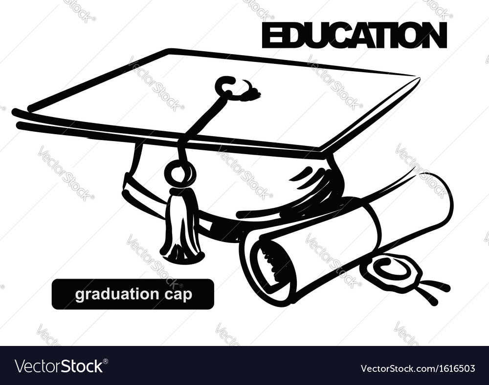 Graduation cap vector | Price: 1 Credit (USD $1)