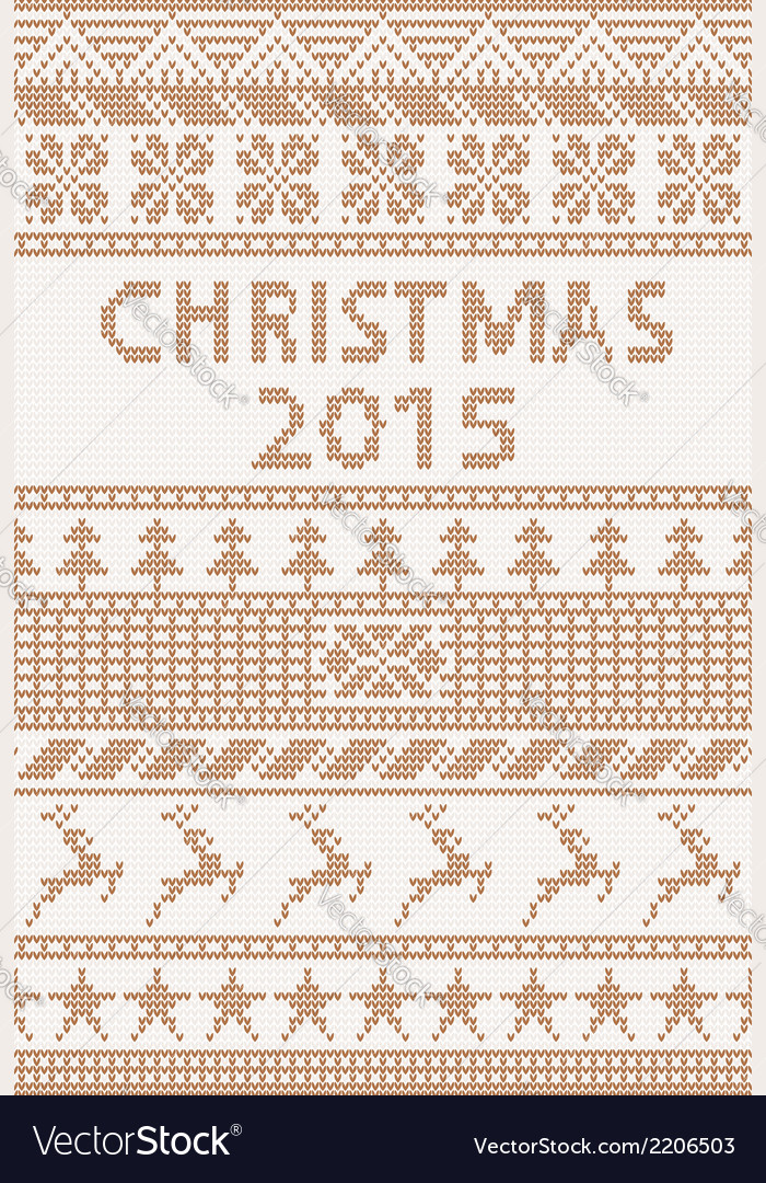 Knitted pattern christmas 2015 vector | Price: 1 Credit (USD $1)