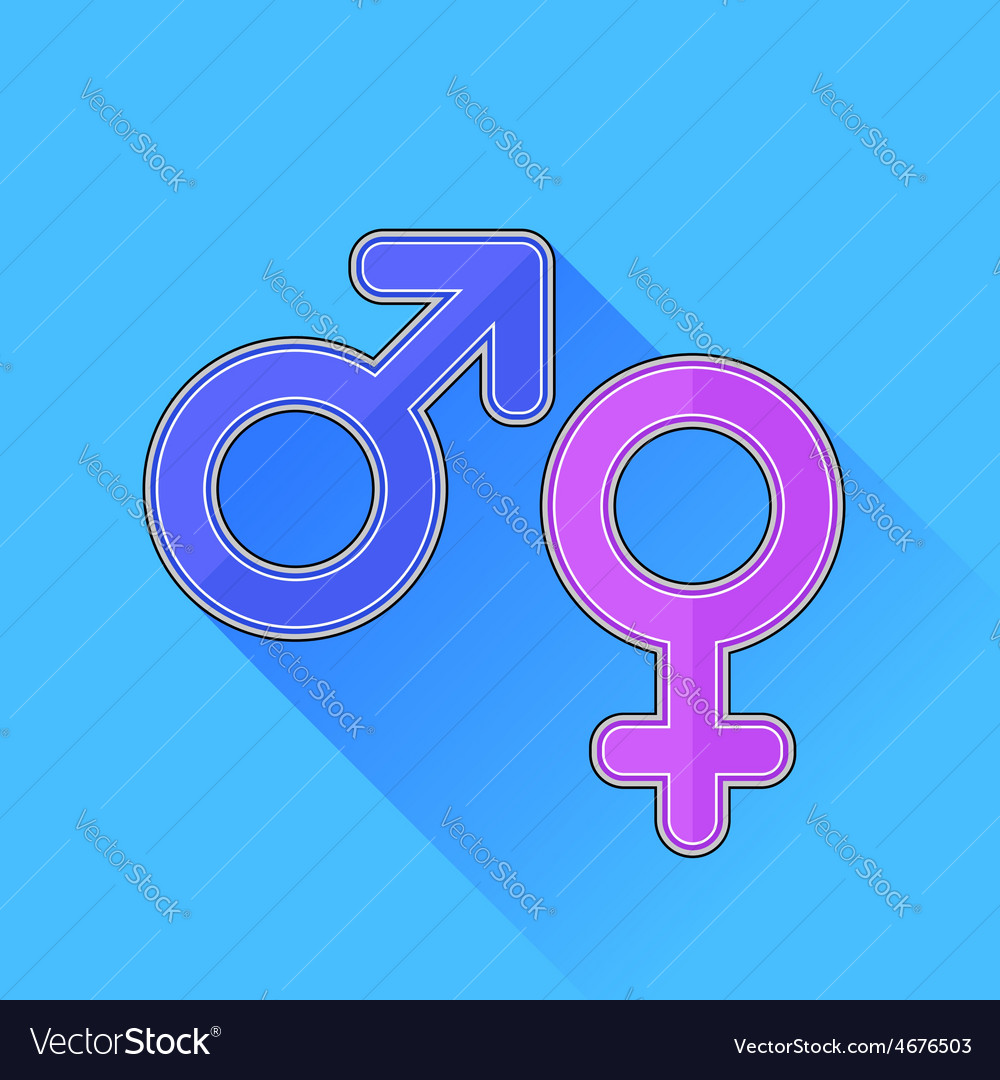 Male female icons vector | Price: 1 Credit (USD $1)