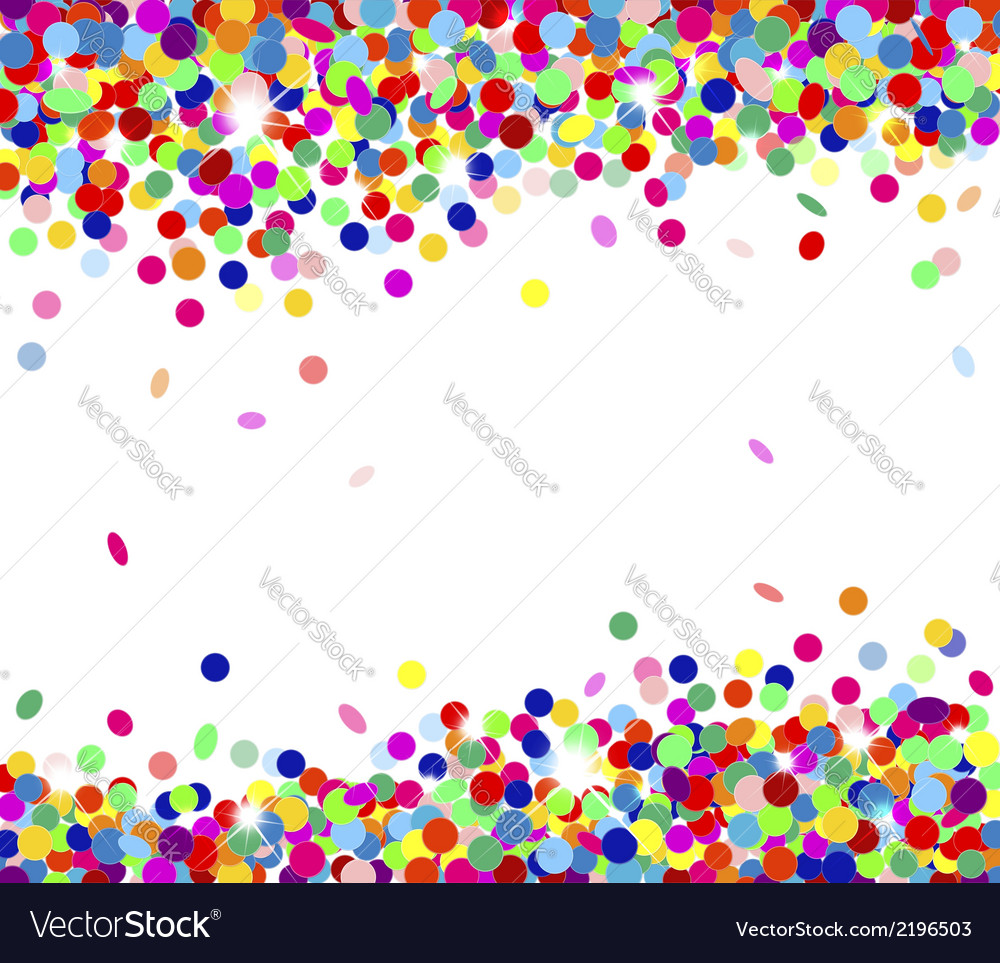 Multicolored confetti vector | Price: 1 Credit (USD $1)