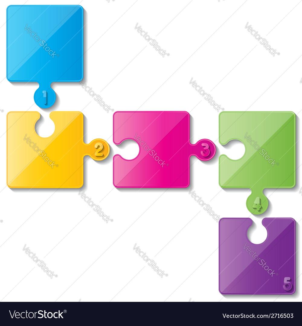 Puzzle infoghaphics vector | Price: 1 Credit (USD $1)