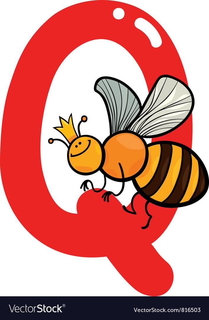 Q for queen bee vector | Price: 1 Credit (USD $1)