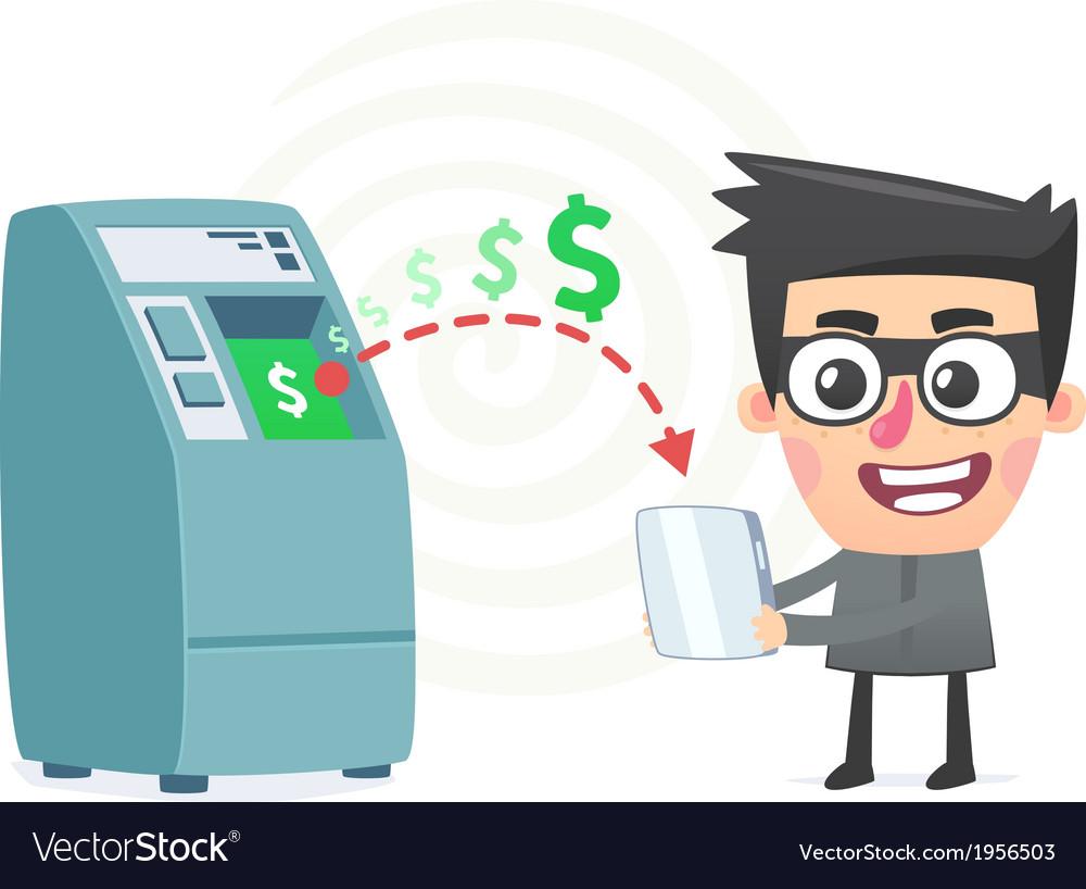 Theft money using modern technology vector | Price: 1 Credit (USD $1)